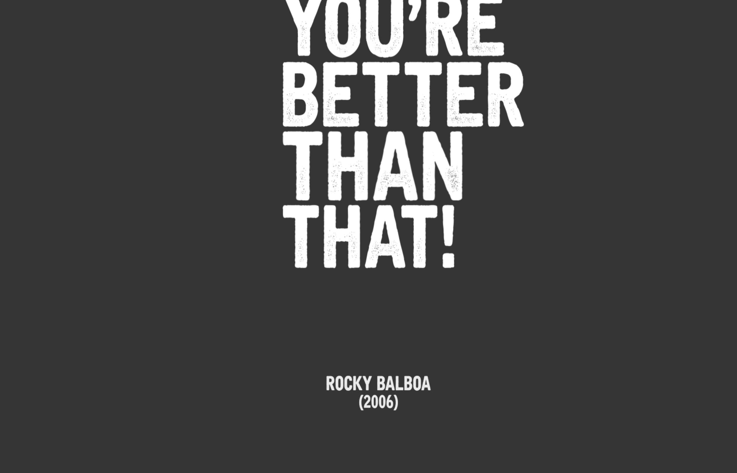 Rocky Balboa Inspirational Speech Wunder Studio